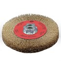 "Picture of 78000 Jaz USA Wire Wheel Bench Brush,4-1/2""Crimped,.012"",Steel"