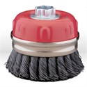 "Picture of 54052 Jaz USA Twist Knot Wire Cup Brush,4"",.020"",Steel"