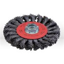 "Picture of 78052 Jaz USA Twist Knot Wire Wheel Brush,4-1/2"",20 Knots,.020"",Steel"