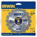 "Picture of 14027 Irwin Circular Saw Blade,5-1/2"" 18T Framing/Ripping,10mm"