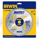 "Picture of 14031 Irwin Circular Saw Blade,7-1/4""x40T Trimming/Finishing,Universal"