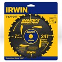 "Picture of 14130 Irwin Circular Saw Blade,7-1/4""x24T deck blade,Universal"