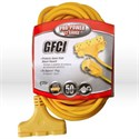 Picture of 02838 Coleman Ground Fault Circuit Interrupters (GFCI),12/3 SJTW,L 50',Yellow