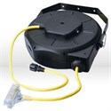 Picture of 04820 Coleman Luma-Site Retractable Extension Cord Reel,12/3 SJTW,L 50',Yellow
