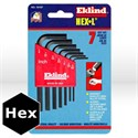 "Picture of 10107 Eklind Hex-L L Shaped Hex Key Set,Short,7pc,5/64""-1/4"""