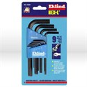 Picture of 10509 Eklind Hex-L L Shaped Hex Key Set,1.5mm-10mm,Short,9 pc