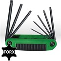 Picture of 25582 Eklind Ergo-Fold Fold Up Hex Key Set,T6-T25 Torx keys