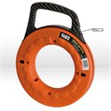 "Picture of 56002 Klein Tools Depthfinder Fish Tape,1""increments,Size 1/8""wide,65',Steel,Dia.9"",Orange"
