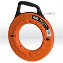 "Picture of 56003 Klein Tools Depthfinder Fish Tape,1""increments,Size 1/8""wide,125',Steel,Dia.13"",Orange"