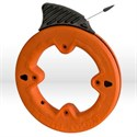 "Picture of 56005 Klein Tools Depth finder Fish Tape,1""increments,Size 1/4""wide,25',Steel,Dia.7"",Orange"