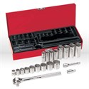 "Picture of 65508 Klein Tools Socket Set 3/8""Drive,Socket Wrench Sets,Size 20 pc 3/8""Drive,6-point sockets"