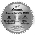 "Picture of 48-40-4515 Milwaukee Circular Saw Blades,8"" blade,Tooth count/42T,Arbor/5/8"""