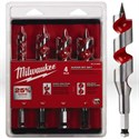 """Picture of 48-13-4000 Milwaukee Wood Boring Bit,Ship auger set,4 pc,1/2"""" 3/4"""" 7/8"""" 1"""",L 6"""""""