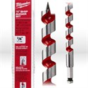"""Picture of 48-13-5500 Milwaukee Wood Boring Bit,3/8"""",Ship auger bit W/nail cutting tip,Coated flutes,L 18"""""""