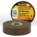 "Picture of 54007-10885 3M Electrical Tape,Scotch Vinyl Electrical Color Coding Tape 35,Brown,3/4""x66ft"