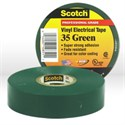"Picture of 54007-10851 3M Electrical Tape,Scotch Vinyl Electrical Color Coding Tape 35,Green,3/4""x66ft"