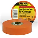 "Picture of 54007-10869 3M Electrical Tape,Scotch Vinyl Electrical Color Coding Tape 35,Orange,3/4""x66ft"