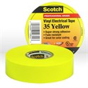 "Picture of 54007-10844 3M Electrical Tape,Scotch Vinyl Electrical Color Coding Tape 35,Yellow,3/4""x66ft"