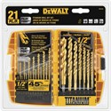 Picture of DW1361 DeWalt Titanium Pilot Point Drill Bit Set,21-Pc