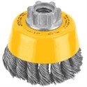 "Picture of DW4910 DeWalt Knotted Cup Brush,Carbon Steel 020"",3""x 5/8-11"",RPM/14,000"