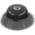 """Picture of DW49154 DeWalt Wire Wheel,3""""x5/8""""-11 XP .014 Stainless Crimp Wire Cup Brush"""