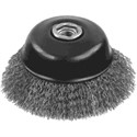 """Picture of DW49155 DeWalt Wire Wheel,4""""x5/8""""-11 XP .014 Stainless Crimp Wire Cup Brush"""