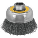 "Picture of DW4922 DeWalt Wire wheel,5"" Crimped Cup Brush/Carbon Steel 5/8""-11 Arbor .020"""