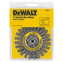"Picture of DW4935 DeWalt Wire wheel,4""xM10x1.25 Full Cable Twist Wire Wheel/Carbon Steel .020"""