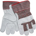 "Picture of 1220S MCR Gloves,Industry Grade,Gunn Leather Palm,2.5"" Starched Safety,Stripe Fabric"