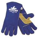 Picture of 4500 MCR Blue Select Leather Welder Gloves Sewn KEVLAR,Thumb and Palm Pad W/Foam Lining,XL