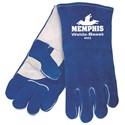 "Picture of 4602 MCR ""Weld-A-Beast"" side Leather Welder Gloves,Reinforced Palm/ Thumb Palm,Blue,Foam"