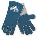 "Picture of 4730 MCR ""Warhorse"" Deluxe Blue,Foam Lined Welders Gloves,"