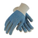 """Picture of 36-110VV/L PIP PVC Coated Seamless Knit,""""Double V"""",Blue Vv Pattern On Two Sides,Heavy Shell,L"""