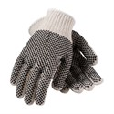 Picture of 36-112PDD/L PIP PVC Coated Natural Cotton/Poly String Knit,2 Side Dot Pattern,Black,L