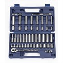 "Picture of 50666 Williams 3/8"" Drive SAE Socket Set,mm,47 PC"