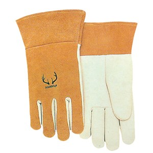 "Picture of 10-2374M Alliance Prestigious TIG/MIG Gloves,M,Pearl Leather,Kevlar Sewn with 3"" Cuff"