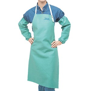 "Picture of 33-7042 Alliance Flame resistant Apron,Green,42"",Cotton"