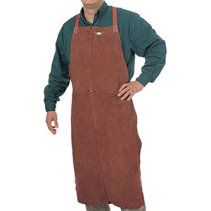 "Picture of 44-7142 Alliance Premium Leather Bib,42"",Lava Brown,Side Split Cowhide"