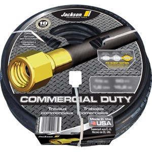 "Picture of 4008500A Ames Jackson Hose,5/8""x100',Black,Rubber,Heavy Duty"