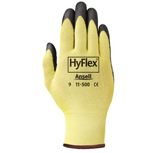 Picture of 11-500-7 Ansell Hyflex Gloves,205575,Black,Size 7