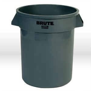 "Picture of FG263200-GRAY Rubbermaid BRUTE Waste Container,22"" x27-1/4"",32 gal,Gray"
