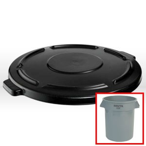 Picture of FG2645-60-GRAY Rubbermaid BRUTE Waste Container Lid,Gray