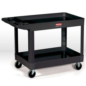 Picture of 4520-88-BLA Rubbermaid Utility Cart,2 Shelf Cart
