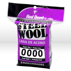 Picture of 0320 Red Devil Steel Wool,Super Fine #0000 Steel Wool,8 Pack