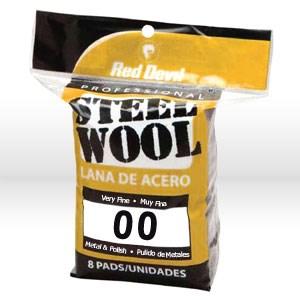 Picture of 0322 Red Devil Steel Wool,Very Fine #00 Steel Wool,8 Pack