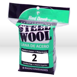Picture of 0325 Red Devil Steel Wool,Medium Coarse #2 Steel Wool,8 Pack