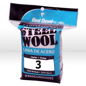 Picture of 0326 Red Devil Steel Wool,Coarse #3 Steel Wool,8 Pack