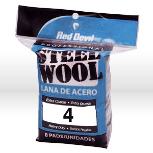 Picture of 0327 Red Devil Steel Wool,Extra Coarse #4 Steel Wool,8 Pack