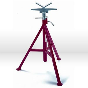 "Picture of 56662 Ridgid Tool Pipe Stand,#Vj99, V-Head High Pipe,Max Pipe 12"",2500 Lbs,Height: 28"" To 35"""