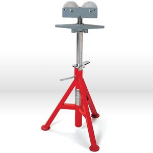 "Picture of 56667 Ridgid Tool Pipe Stand,RJ98, Roller Low Pipe,Max Pipe 12"" (30cm),2500 Lbs,Height: 23"" To 41"""